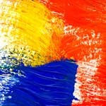 abstract painting of brush strokes