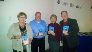 Las Vegas Authors Barbra Wolfe, Marshall Prescott, Pat Kranish and Craig Ruark pose at The Tales from the Silver State II book signing on 2/20/15